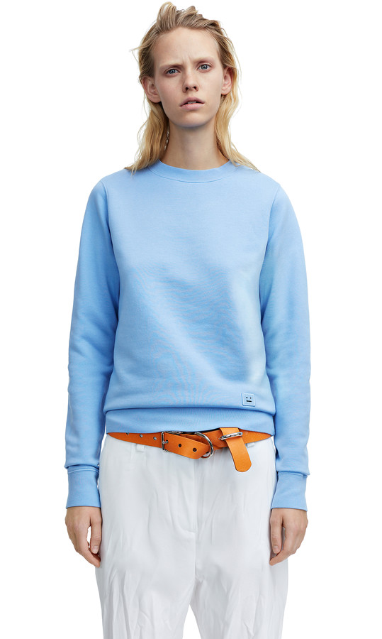 Acne Studios - Vernina Dyed Pale Blue - Sweatshirts - SHOP WOMAN - Shop Shop Ready to Wear, Accessories, Shoes and Denim for Men and Women