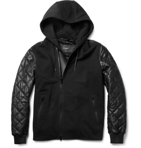 GivenchyContrast-Front Quilted Leather Bomber Jacket|MR PORTER