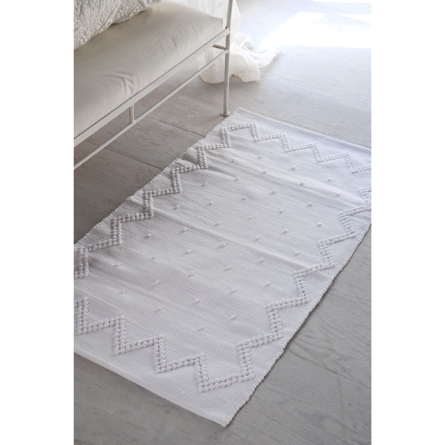 francjour フランジュール     ラグマット(WHITE) 50×69