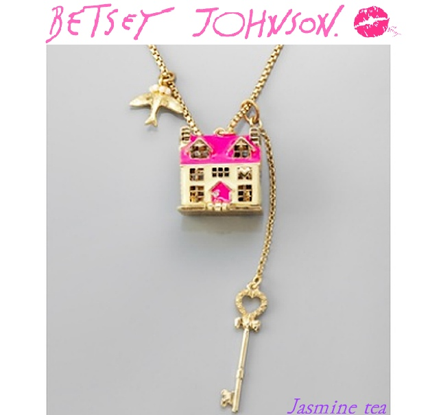 ★セール★BETSEY JOHNSON Long House Necklace★(8376145):BUYMA (バイマ)