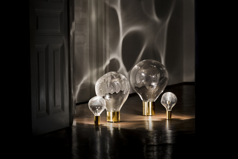 Ripple glass-domed lighting by Poetic Lab at Milan 2014