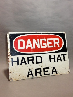 "1950-70's ""DANGER"" Warning Sign - FUNNY SUPPLY"