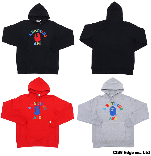 【楽天市場】A BATHING APE MULTI COLLEGE PULLOVER HOODIE[プルオーバーパーカー] 212-000785-053[1030-114-004]-【新品】【smtb-TD】【yokohama】:Cliff Edge