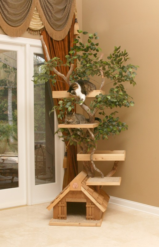 Mature large Cat Tree House by PetTreeHouses on Etsy