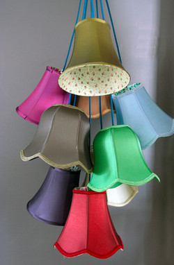 Retro To Go: Traditional Lampshade Cluster Light from Rockett St George