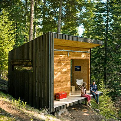 DIY Small Cabin, via Sunset Magazine | Cabins - Cottages - Retreats...
