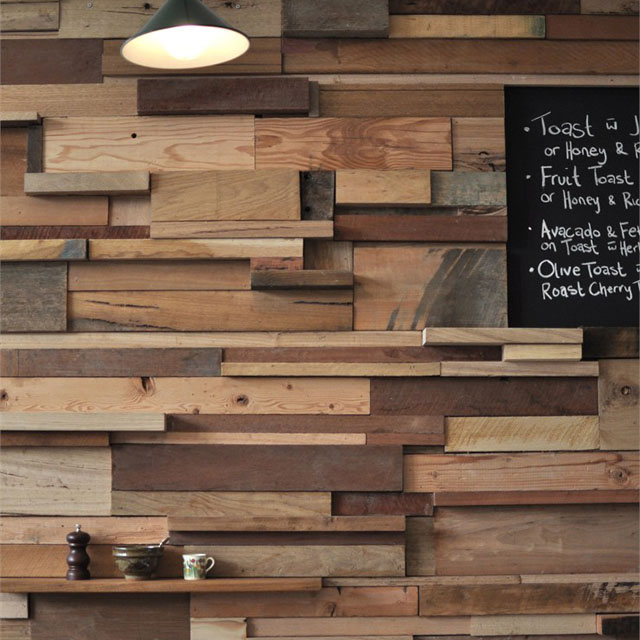 Fancy - Reclaimed Wood Wall by Leah Moss