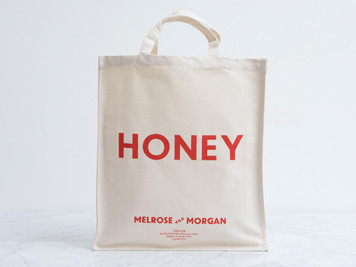Melrose and Morgan - HONEY Canvas Shopping Bag