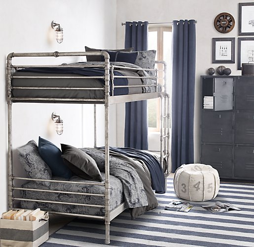 Industrial Steel Pipe Bunk Bed | Bunk Beds | Restoration Hardware Baby & Child