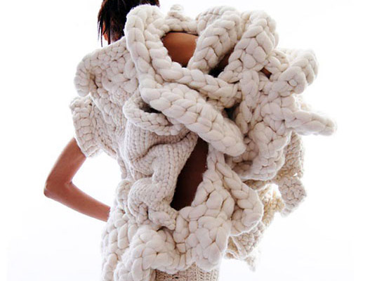 "Johan Ku's ""Emotional Sculpture"" Takes Chunky Knits To An Extreme 