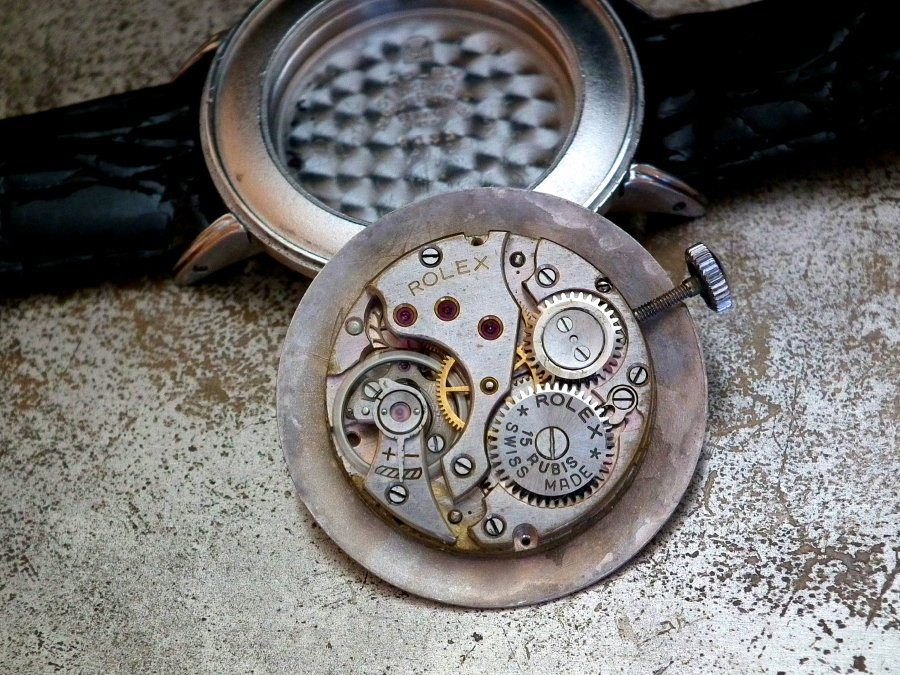 Just Beautiful 1940′s Full Size Steel Rolex Precision Sub-Second Gents Vintage Watch | Sonning Vintage Watches