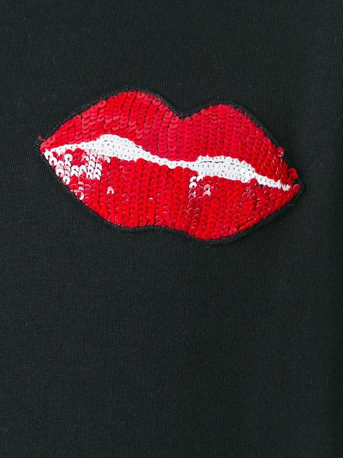 Au Jour Le Jour Lips Patch Sweatshirt - Di Pierro - Farfetch.com