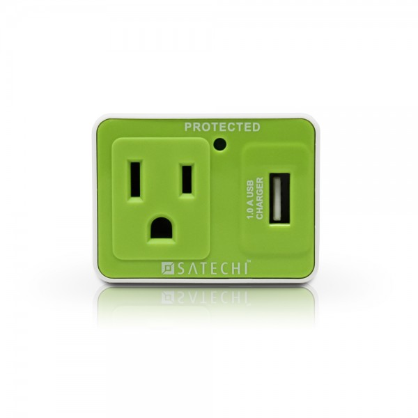 Satechi Compact USB Surge Protector for Charging MP3 Players, iPhone, Blackberry, Android, and Windows Mobile Phones - Computer Accessories