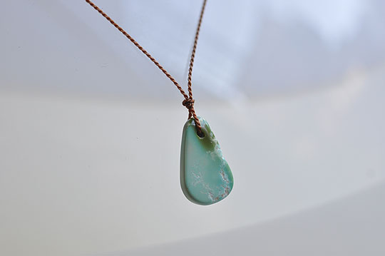 Large Turquoise Drop Necklace (Margaret Solow) - SOURCE objects