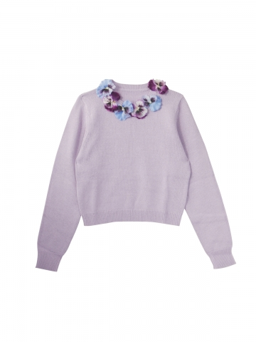 pansy knit pullover | HONEY MI HONEY ハニーミーハニー ONLINE STORE