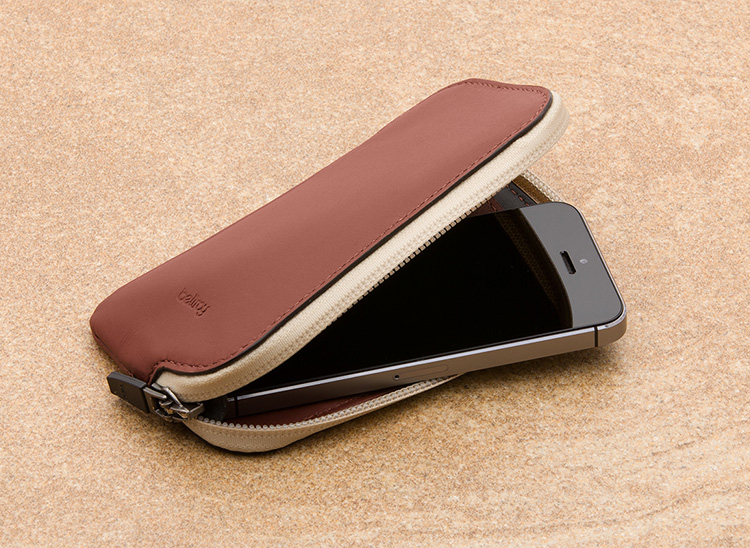 Elements Phone Pocket - Slim Leather Wallets by Bellroy