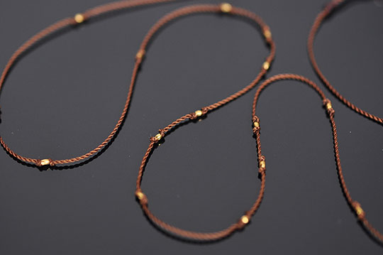 Gold Beads Necklace (Margaret Solow) - SOURCE objects
