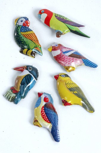 Tin bird pins,... -Downtown finds - latimes.com