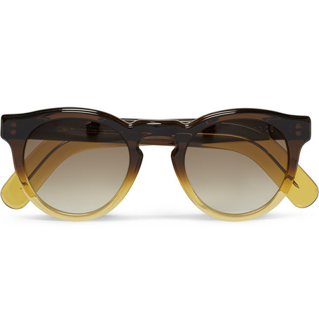 Cutler and Gross Round-Frame Ombre Acetate Sunglasses | MR PORTER