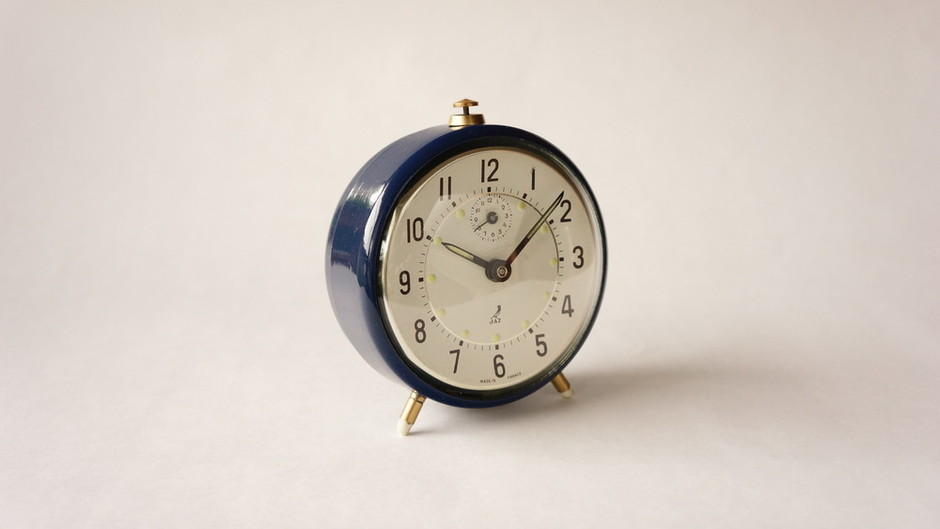 JAZ / Alarm clock/ Navy Blue / France 1941~1967 / higurashi