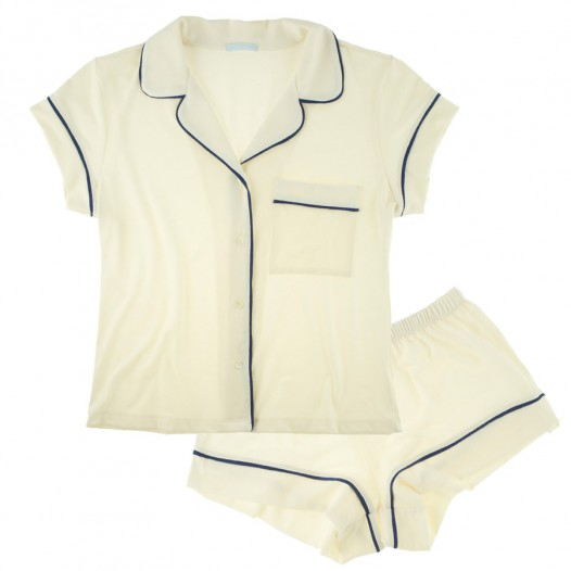 Buy Eberjey luxury lingerie - Eberjey Gisele PJ's Short PJ Set | Journelle Fine Lingerie