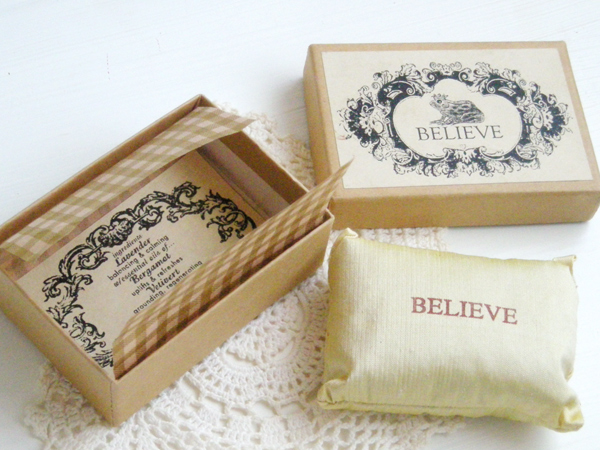 """Interior - 1990's P.Flynn Design's """"BELIEVE"""" Lavender Sachet - Little ♥ Hideaway 〜ヴィンテージから現代まで〜 Candy Hearts♡USA & UK 輸入雑貨"""