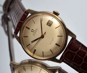 "Omega C.1960s ""DeVille"" automatic in yellow gold filled 