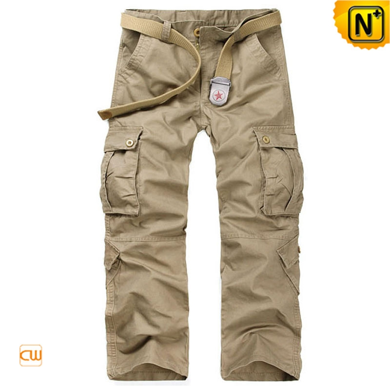 Belted Cargo Pants Trousers for Men CW140285
