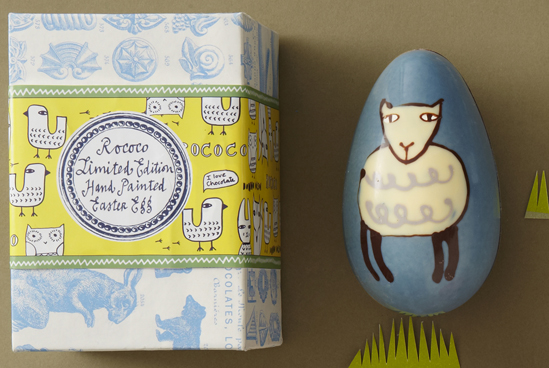Leaves and Twigs: Donna Wilson and Rococo Chocolate Easter Eggs