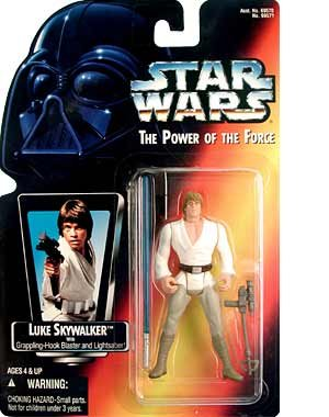 Amazon.com: Star Wars Power of the Force Luke Skywalker Action Figure: Toys & Games