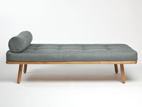 Oak day bed made from FSC certified solid wood in the UK by Another Country Furniture