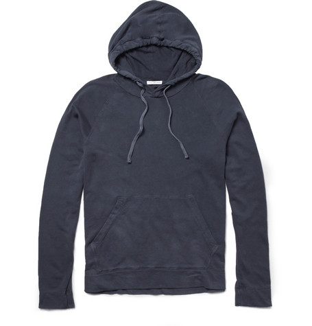 James PerseLightweight Loopback Cotton-Jersey Hoodie|MR PORTER