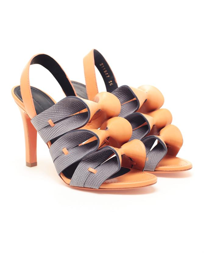 Browns fashion & designer clothes & clothing | BALENCIAGA | Ruffle Front Sandals