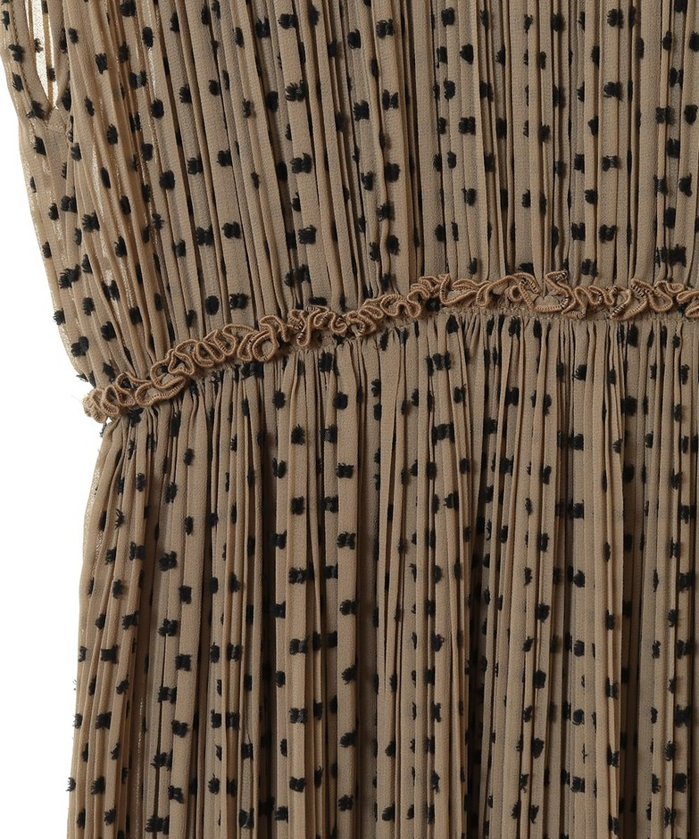 DOT JACQUARD PLEAT ONE PIECE DRESS(ドレス) CLANE OFFICIAL ONLINE STORE