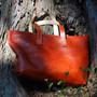 Leather Tote [Brown] - Leather Factory Roberu Ground