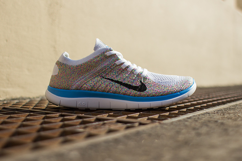Nike - WMNS Free Flyknit 4.0 (white/ multicolor) - SUPPA