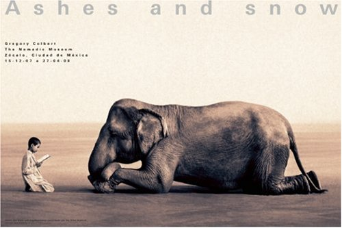 Amazon.co.jp: Ashes and Snow Mexico Boy Reading to Elephant Poster: Gregory Colbert: 洋書