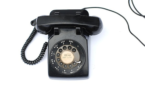 Vintage Rotary Dial Phone Black Rotary Desk by TheNewtonLabel
