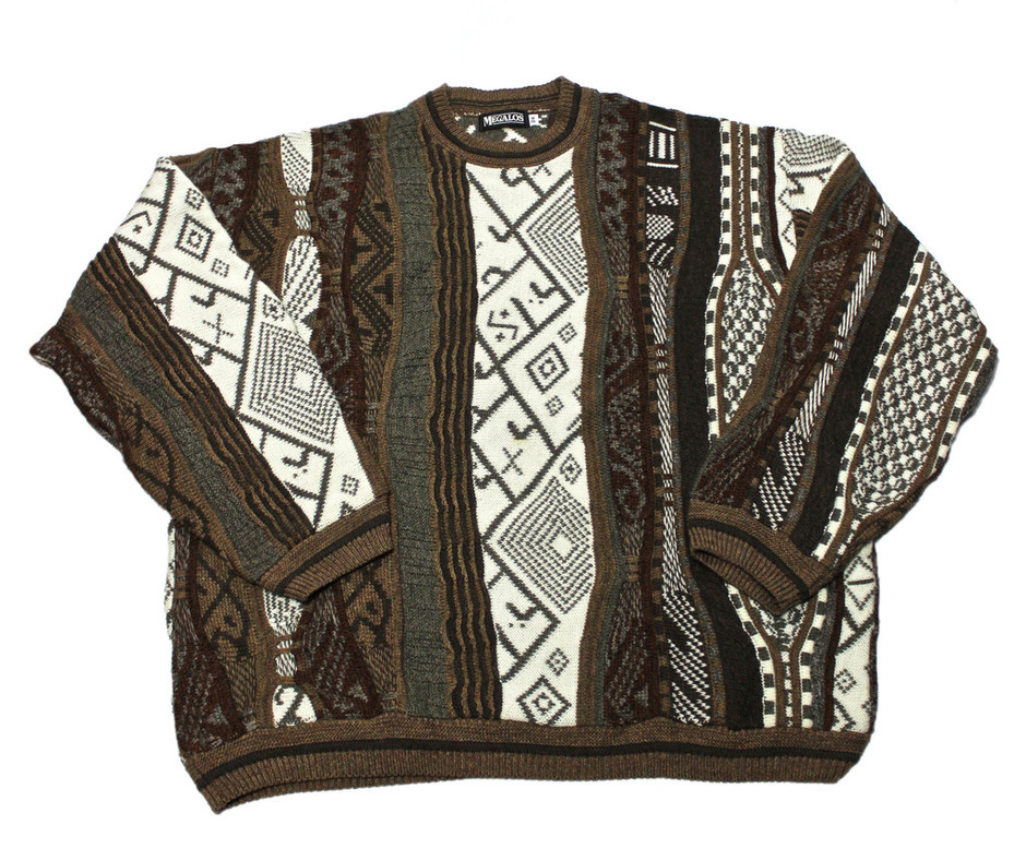 Vintage 90s Coogi Style Acrylic Sweater Made in USA Mens Size XXL | Vintage Mens Goods