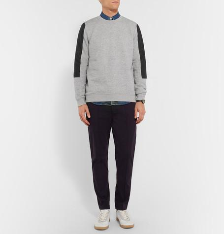 Folk - Shell-Panelled Loopback Cotton-Jersey Sweatshirt