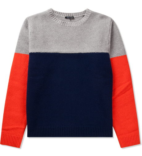 CASH CA Grey/Navy/Orange 3 Tone Color Sweater | Hypebeast Store