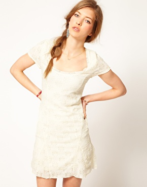 Free People | Free People Daisy Lace Skater Dress at ASOS