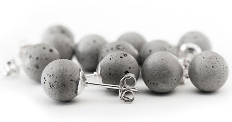 Metsa Design's Concrete Pearl Earrings — Lost At E Minor: For creative people