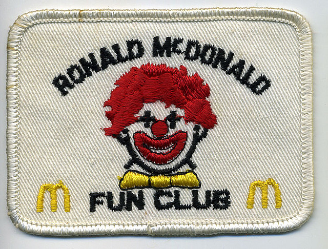Ronald McDonald Fun Club patch | Flickr - Photo Sharing!