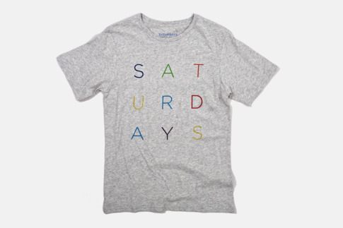 Saturdays Surf NYC | Online Store | Color Letters T-Shirt