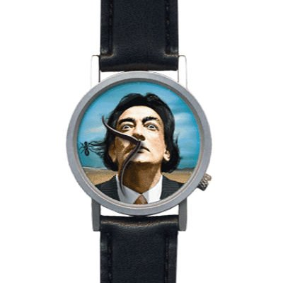 Amazon.com: The Salvador Dali Watch - The surreal wristwatch with moustache hands.: Sports & Outdoors