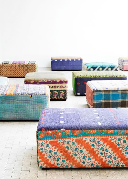 antique quilt ottoman from hay | Modern Design Trends