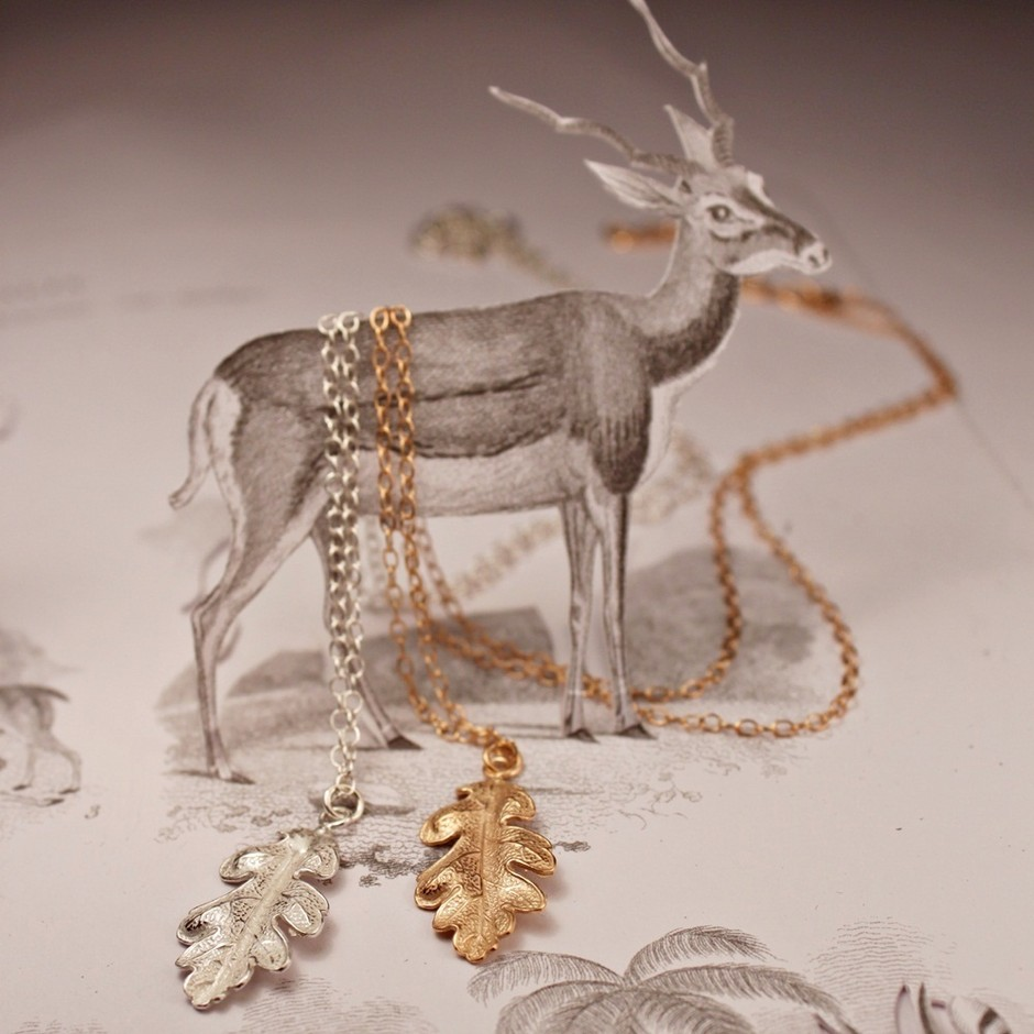 RUST jewellery — {ならの葉のネックレス}<br>oak leaf necklace
