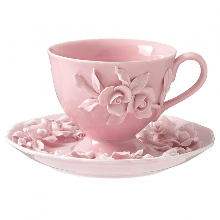 Homewares :: Kitchen :: Dinnerware :: Rambling Rose Cup and Saucer - | Domayne Online Store - Furniture, Bedding, Homewares and Electronics