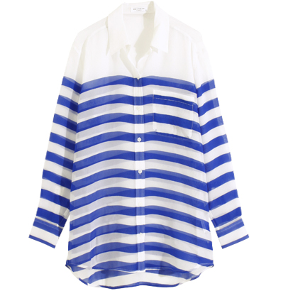 Nautical Stripe Print Shirt / Equipment | LE CIEL BLEU (ルシェルブルー)公式サイト
